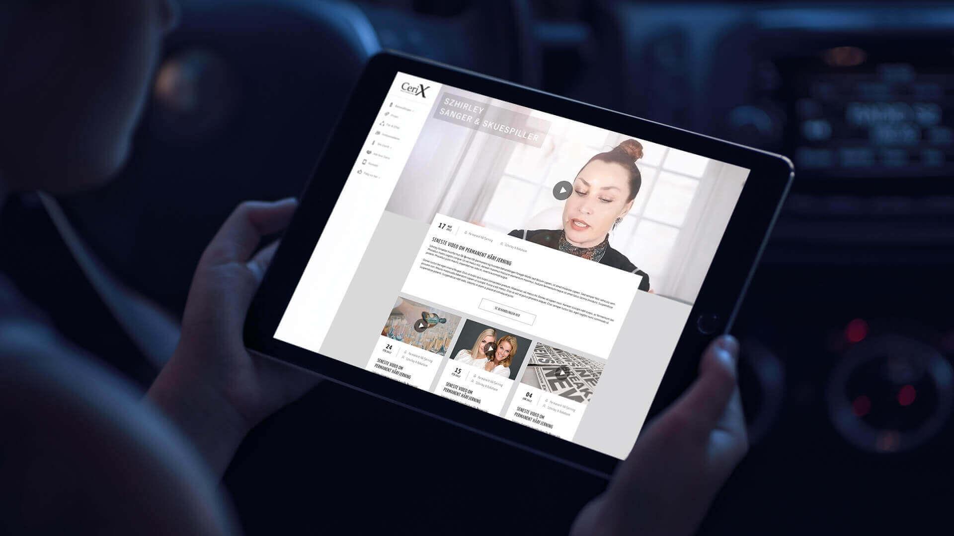 CeriX præsentation på iPad