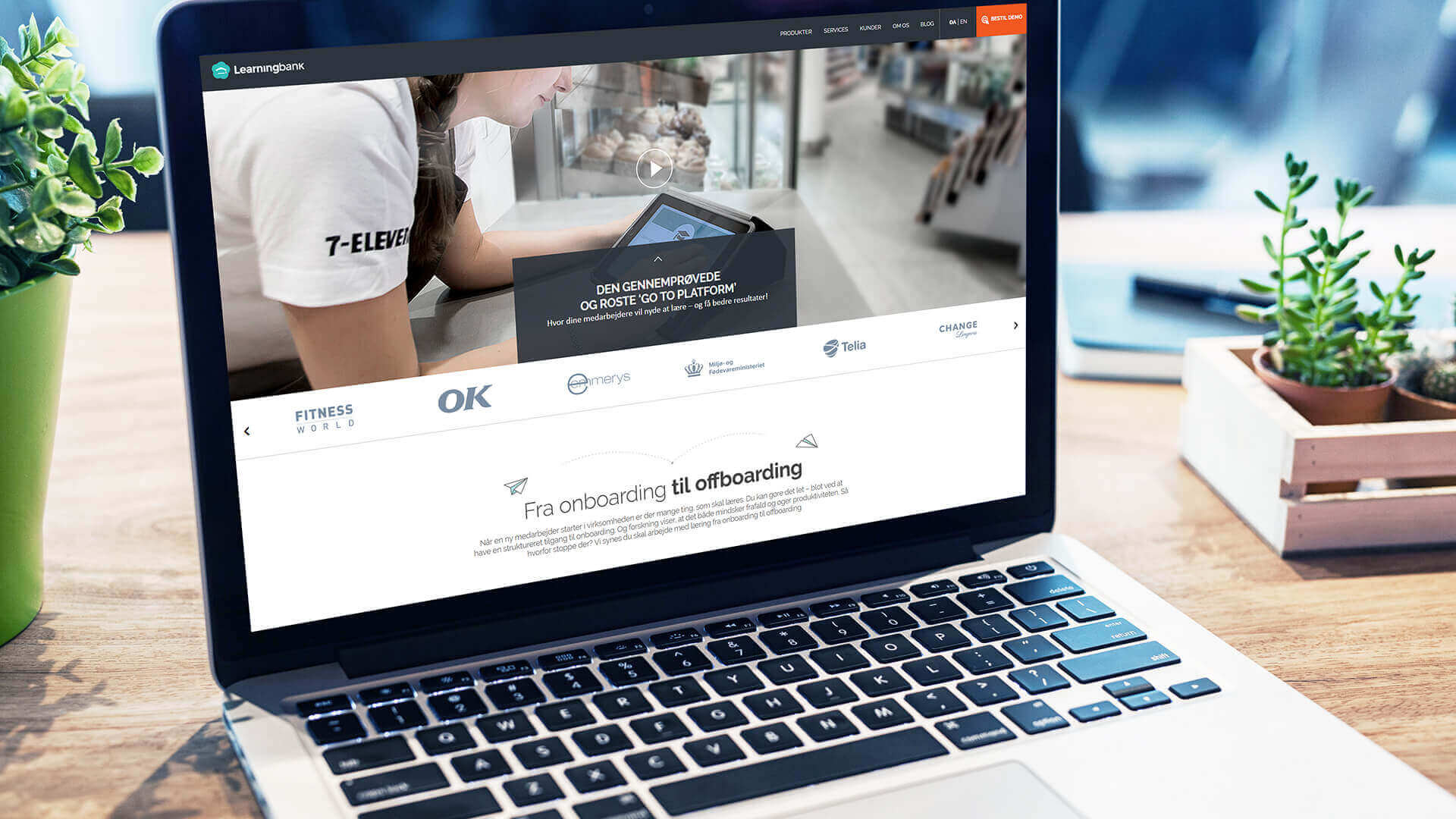 Learningbank præsentation på Mac