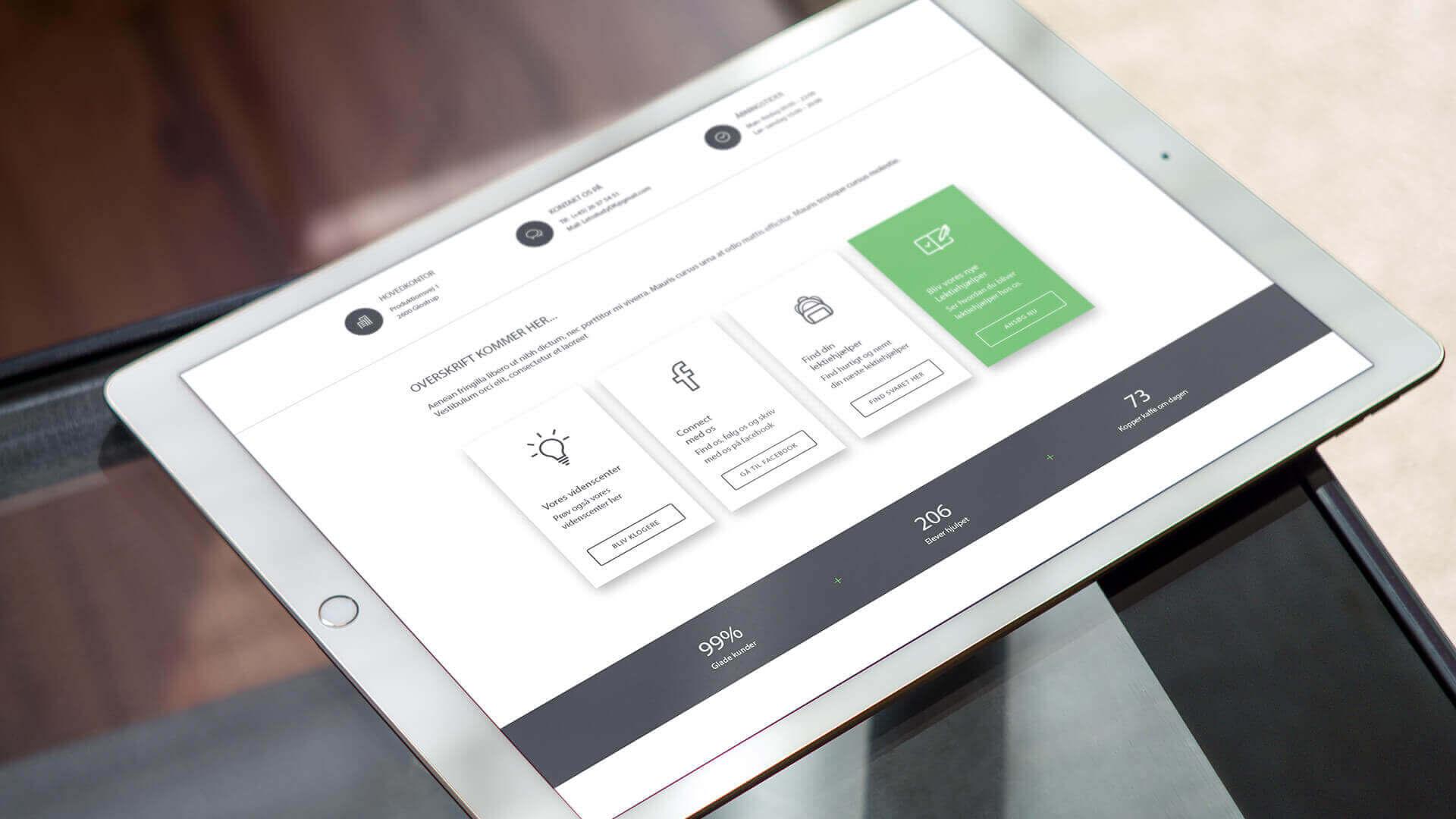 Letsstudy præsentation på iPadd