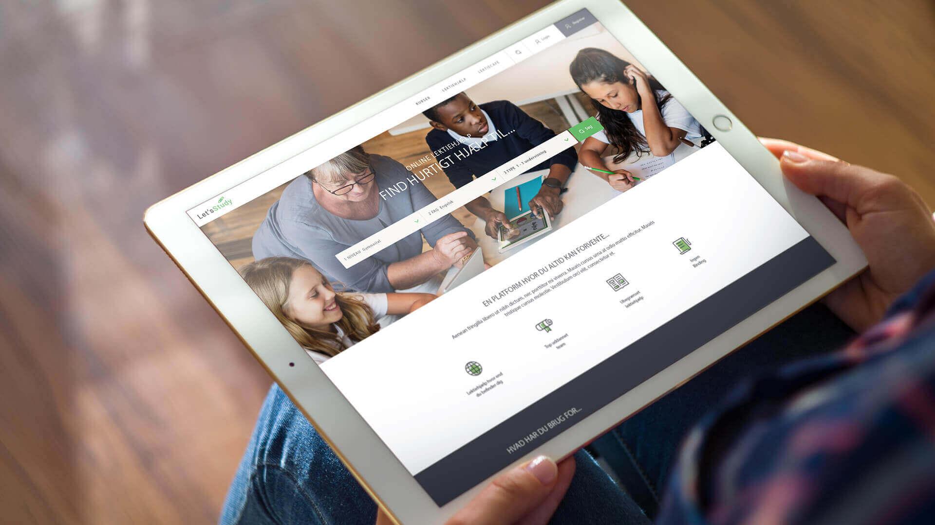 Letsstudy præsentation på iPad